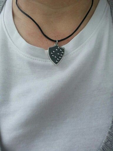 """Wearing my #necklace that is similar to our Shield of a Rocker that was gifted to """"The Voice."""""""