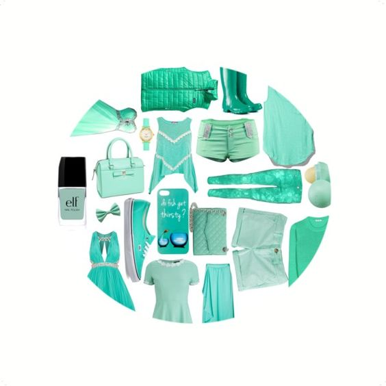 Turquoise- made on polyvore