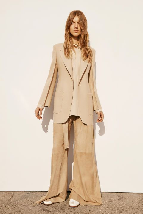 Calvin Klein Pre-Fall has us swooning from head to toe with long coats, camel tones, and powerful structure: