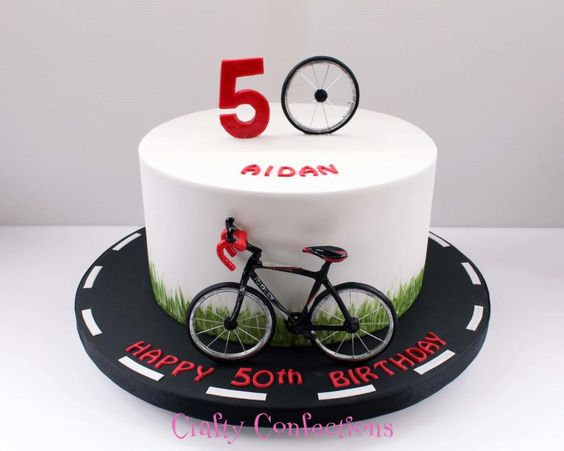 Bike Decoration For Cake : Cyclist birthday cake by Kelly Cope Cakes & Cake ...