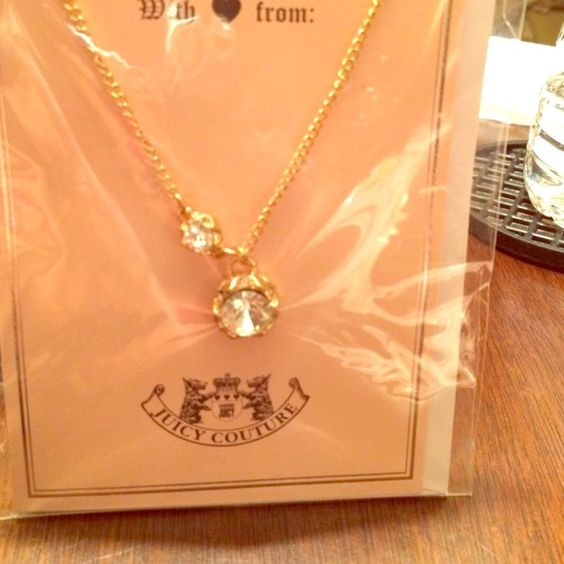 Juicy Couture necklace Juicy Couture gold necklace. Juicy Couture Jewelry Necklaces