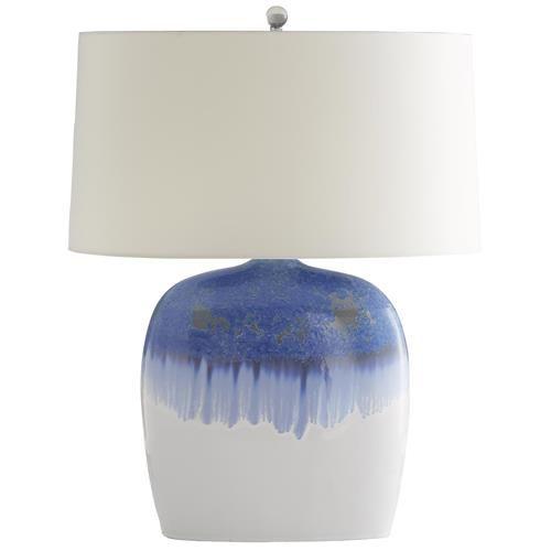 Arteriors Darwin Coastal Artisan Blue Grey Drip Glaze Ceramic Lamp Ceramic Lamp Lamp Glaze Ceramics