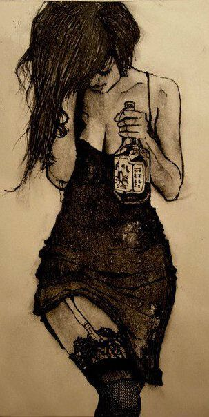 Girl with Jim Beam