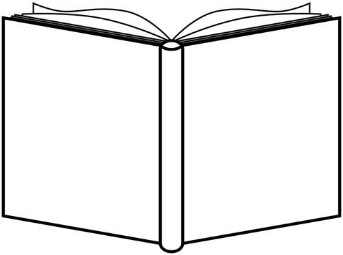 Opened Book Outline Free Svg Open Book Book Outline House Colouring Pages