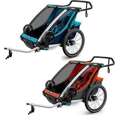Thule Chariot Cross 2 Bicycle Trailer Multisport Anhanger Two Seater Kids New In 2020 Child Bike Trailer Bike Rollers Kids Bike