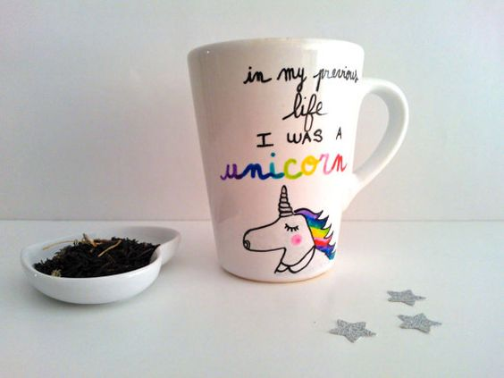 limited edition unicorn mug in my previous life i was a. Black Bedroom Furniture Sets. Home Design Ideas