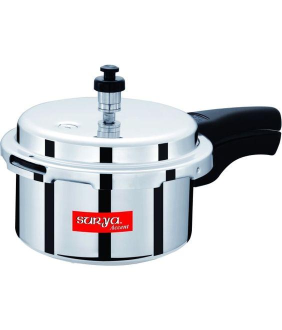 Surya Accent 3 Ltr Aluminium Pressure Cooker  Price in India