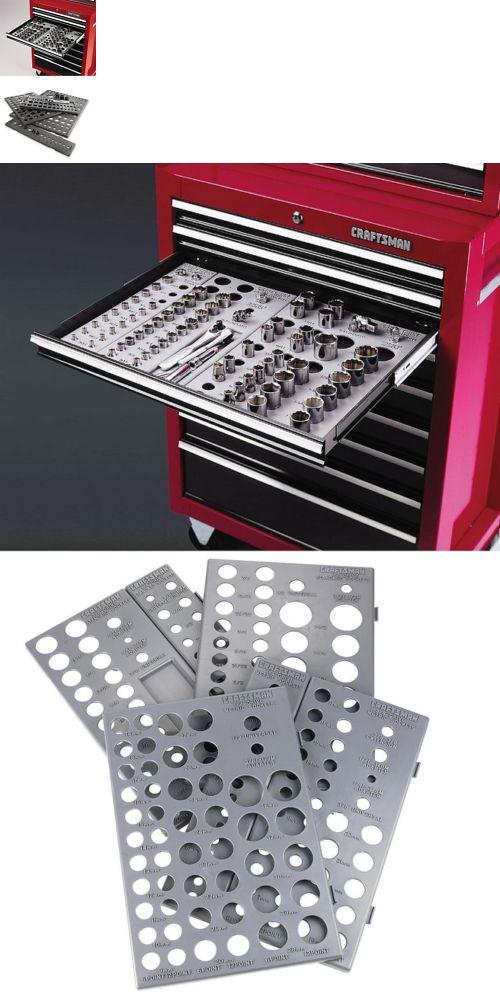 Craftsman 6 Tray Socket Wrench Organizer Divider Set Holds 195 SAE MM Storage