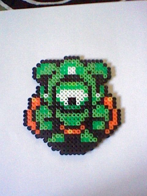The Legend of Zelda Eyegore perler bead creation....melted beads with magnet on back. $8.00, via Etsy.