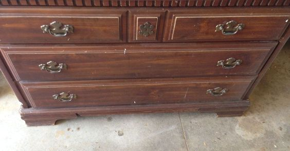 I had this dresser that I needed to do something with.  The drawers were shot- tracks were broken off and there was nothing to adhere new tracks to.  Bottoms of…