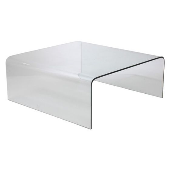 Euro Style Ginny Glass Coffee Table