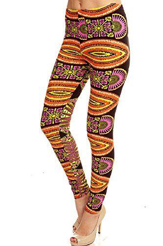 Leggings4U Women's New Sunrise Tribal Print Tribal Fashion Leggings