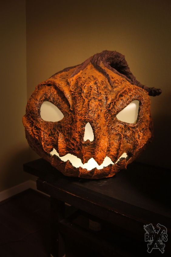 Large Paper Clay Pumpkin! His name is One and he's part of a trio.