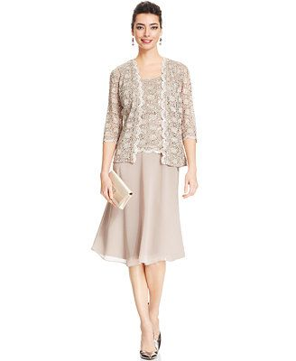 R&M Richards Petite Sequin Lace Dress and Jacket | Grandmother ...