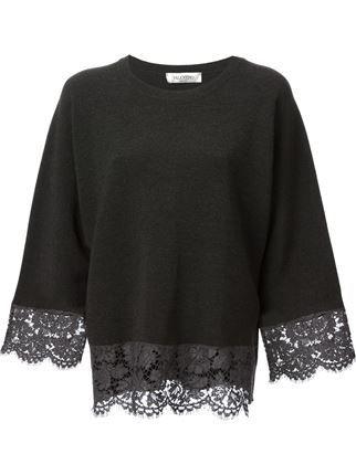Valentino Lace Sweater - Birba's - Farfetch.com