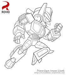 Image Result For Angry Bird Transformers Coloring Pages Real SteelAngry