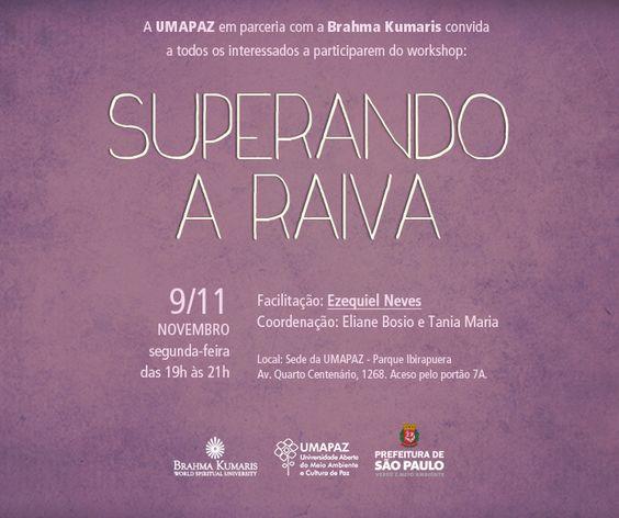 Workshop: Superando a Raiva - Blog da UMAPAZ