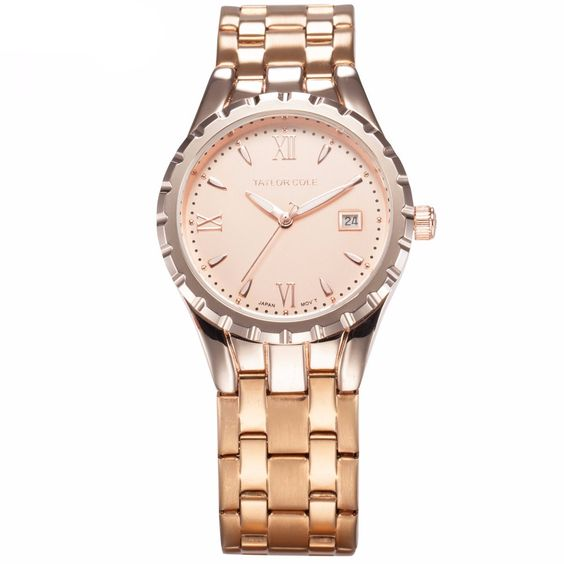 Taylor Cole Rose Gold Auto Date Display TC028