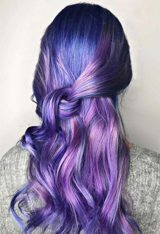 63 Purple Hair Color Ideas To Swoon Over Violet Purple Hair Dye Tips Hair Dye Tips Dyed Hair Purple Hair Color Purple