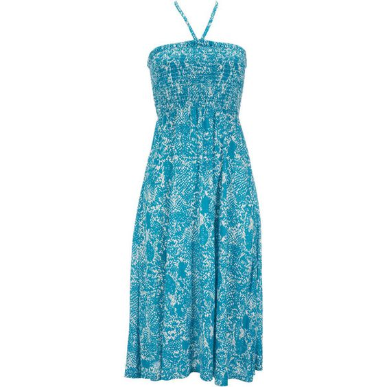 Blue Snake Print Jersey Dress ($28) ❤ liked on Polyvore