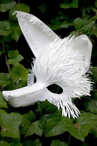 Fox by Phillip Valdez, via Flickr - Amazing masks!
