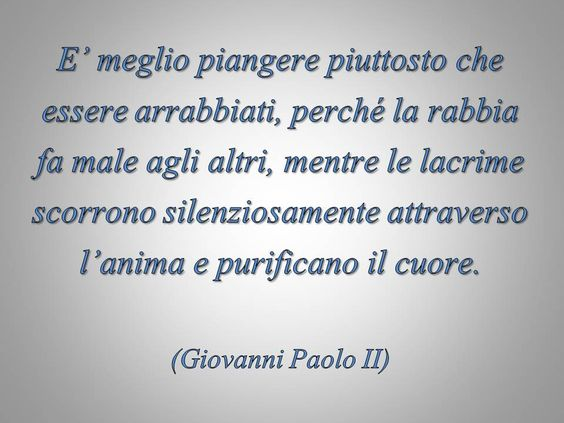 #piangere #GiovanniPaoloII