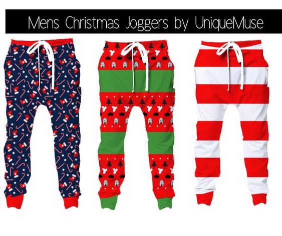 Christmas Joggers for Men by UniqueMuse