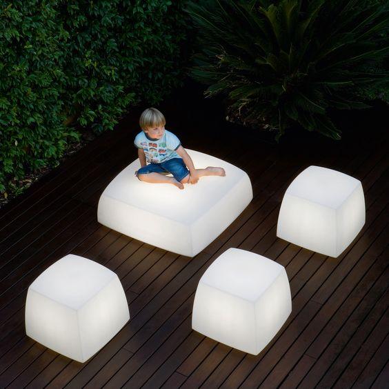 Cube light seating.