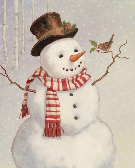 Snowman by DAN ANDREASEN. Repinned by www.mygrowingtraditions.com: