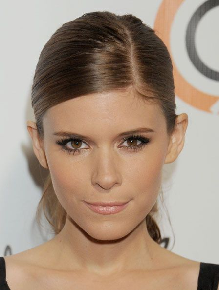 kate-mara-eye-makeup..to make your waterline eyeliner less harsh, dust a bit of gold eyeshadow with a thin brush for s softer, glowing effect.