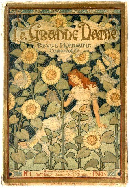 """La Grande Dame Une """" Revue Mondaine Cosmopolite"""" French Painter- Eugène GRASSET -:"""