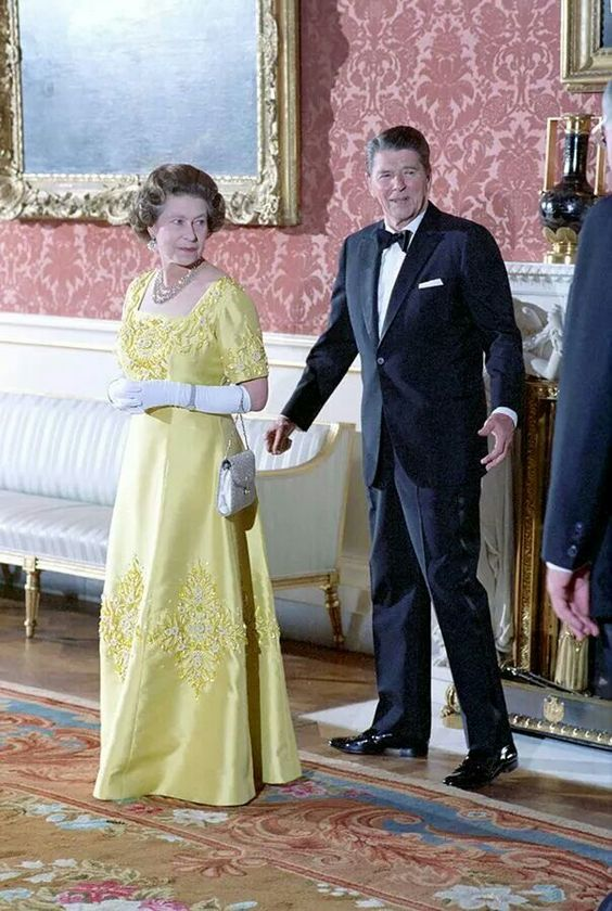 June 10, 1984 - President Reagan and Queen Elizabeth at Buckingham Palace