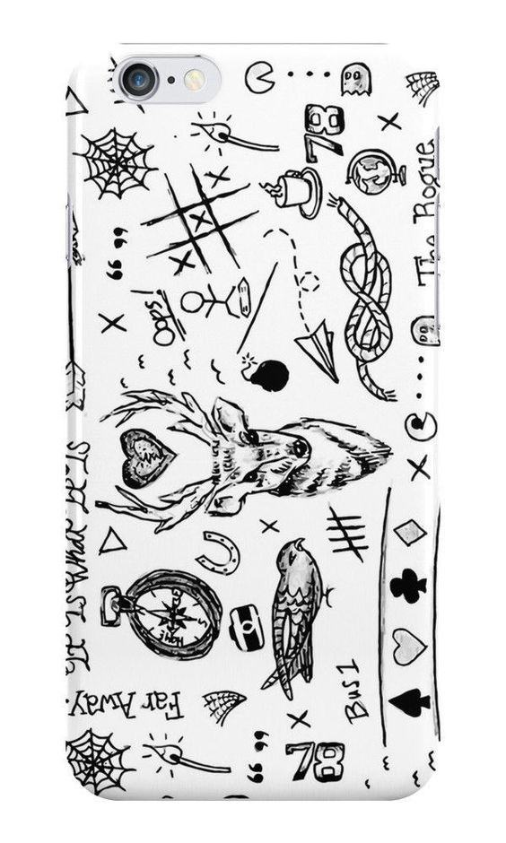 One Direction Louis Tomlinson Tattoos For iPhone 6 Hard Case Cover - $19.90