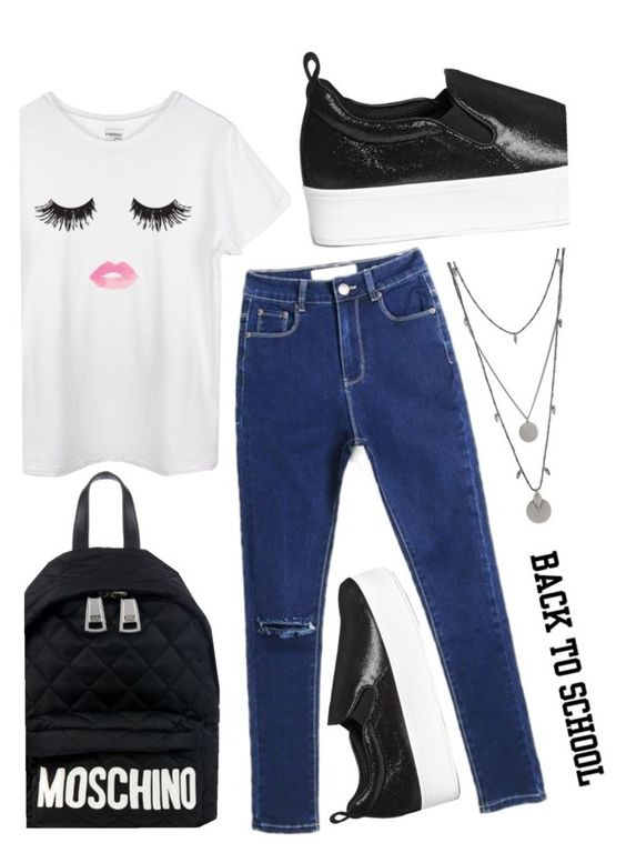 """denim guide-back to school"" by alexa-anita2010 ❤ liked on Polyvore"