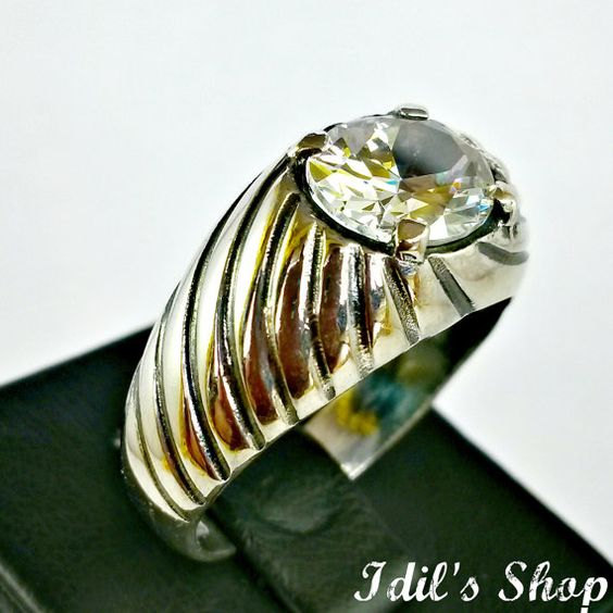 Men's Ring Turkish Ottoman Style Jewelry 925 Sterling by IdilsShop, $55.00