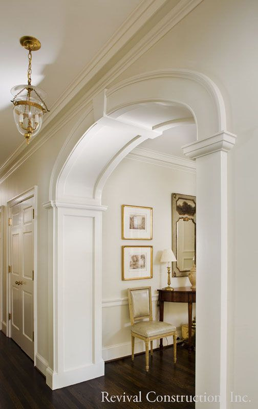 A stunning archway in the hall of a Georgia Revival