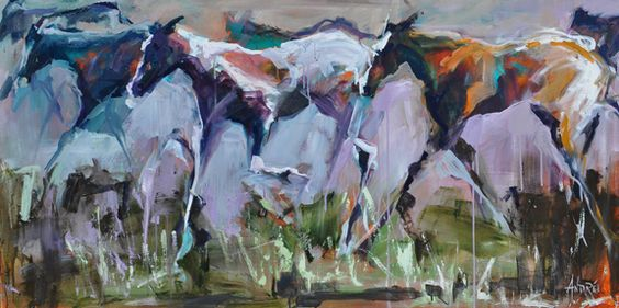 Through the Pasture by Andree Hudson.  ~  Come to the first summer event of 2012 and watch Andree and others in the quick draw at Passport to the Arts. Artists have 90 minutes to create an original work then the pieces will be auctioned as soon as the paint dries. Learn more at
