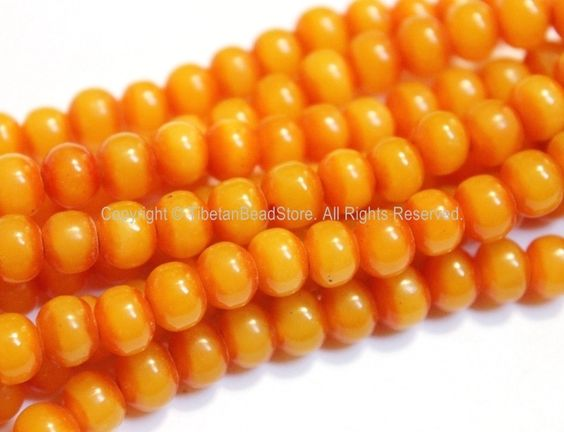 20 Beads - Tibetan Resin Honey Amber Color Beads - Jewelry Supplies - Light Weight 8mm Resin Beads - LPB115-20