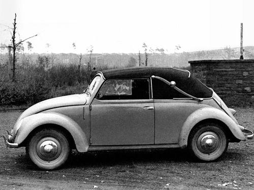 One of many VW Beetle post-war production's models. A 1946 VW Beetle Cabriolet Landau Prototype.