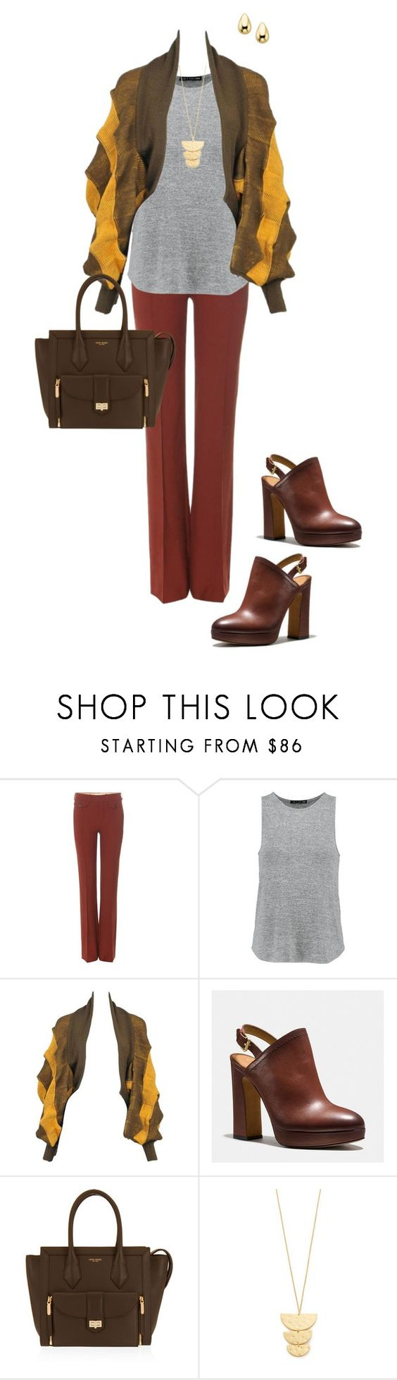 """Untitled #282"" by ccoss on Polyvore featuring Chloé, rag & bone, Issey Miyake, Coach, Henri Bendel and Gorjana"