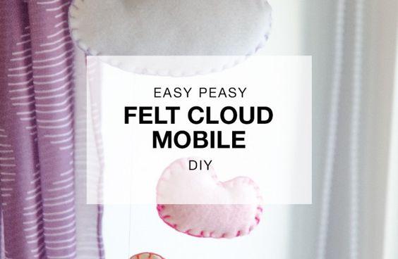 Paper Nerd Easy Felt Cloud Mobile DIY Tutorial