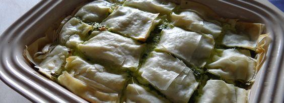 Torta con spinaci e formaggio – Spanakotiropita
