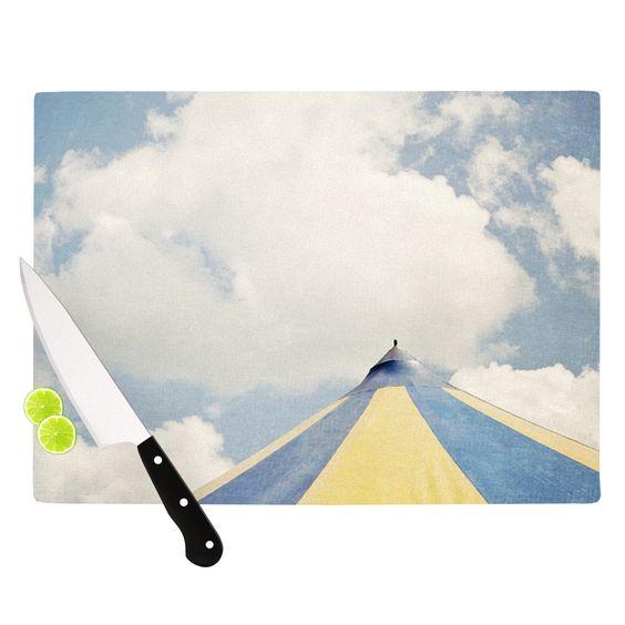 "Susannah Tucker ""Carnival Tent"" Sky Clouds Cutting Board"