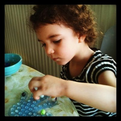 Montessori marbles and beads