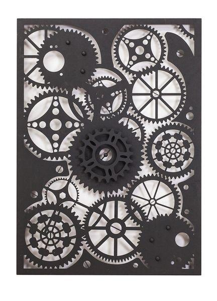 Entanglements Laser Cut Metal Art, Clockwork design///Entanglements Metal Art