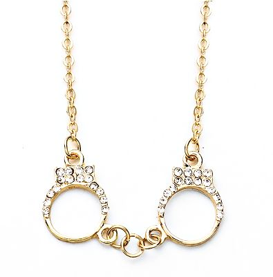 Gold Handcuff Necklace