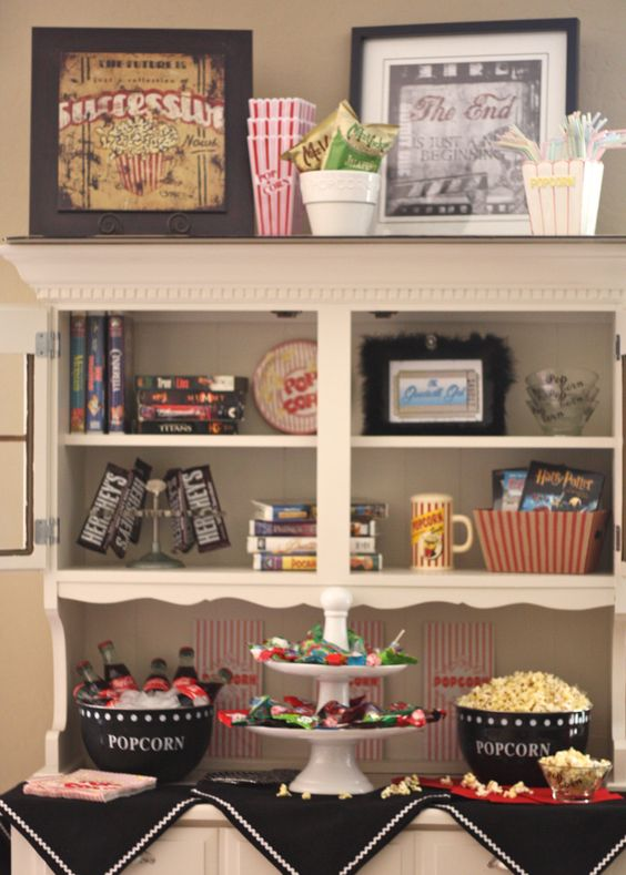 Snack Station Basement Movie Rooms