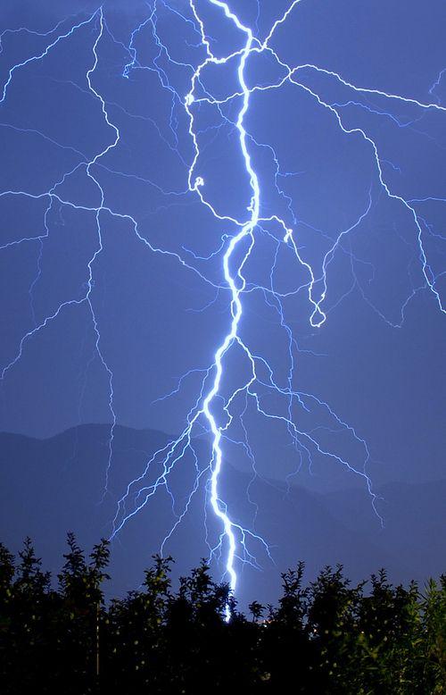 A severe electrifying photo