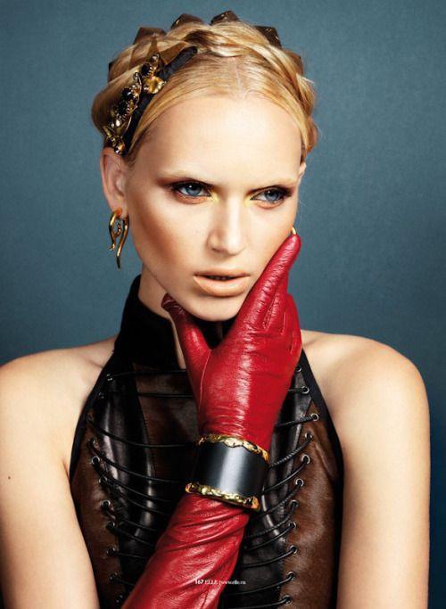 designerleather:  Valeria Dmitrienko - Givenchy leather top...