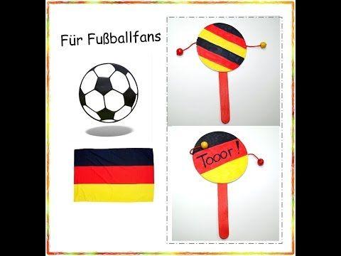 Fur Fussballfans Fussball Klapper Basteln Mit Kindern